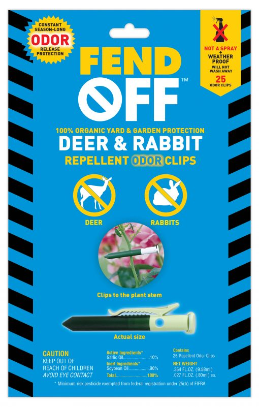 25 Clips Fend Off Deer and Rabbit Repellent