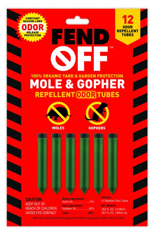 Mole and Gopher Organic Repellant Tubes by Luster Leaf